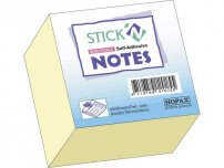 Notes Stick'n Kub 76x76mm gul 400 bl