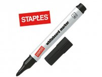 Whiteboardpenna STAPLES rund svart